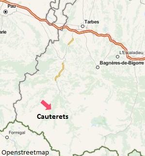 Carte de la station de ski de Cauterets