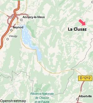 Carte de la station de ski de La Clusaz en Haute Savoie