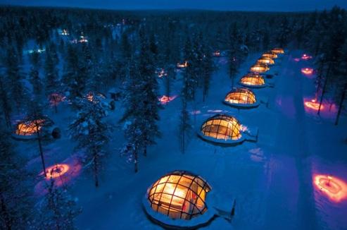Igloo en verre en Laponie