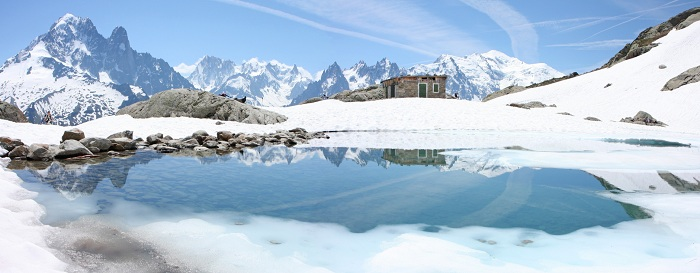 Panorama sur le Mt Blanc