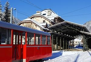 Le train à crémaillère de Chamonix